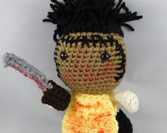 Leatherface, Texas Chainsaw massacre, Leatherface amigurumi, horror, texas chainsaw massacre plush, handmade dolls
