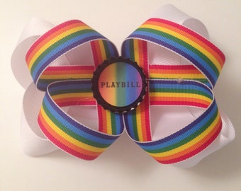 Playbill Pride bow