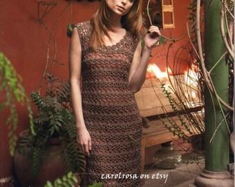 Crochet Pattern - Womens Lacy Crochet Dress//Tunic - Evening Gown or Beach