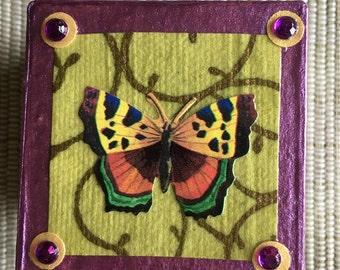 Decoupage Butterfly Gift Box