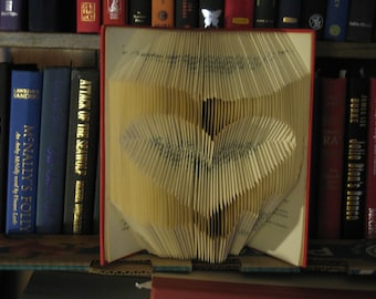 Folded Book Art Sculpture - Ohio Love - made to order