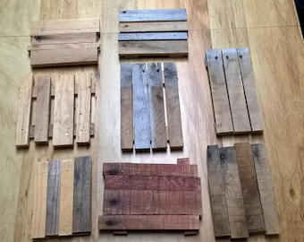 Rustic pallet wood center peice
