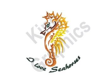 I Love Seahorses - Machine Embroidery Design, Seahorse