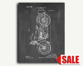 Patent Art Print - Harley Motorcycle Patent Wall Art Print Poster