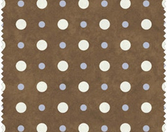 Snow Much Fun  Cotton Flannel Fabric Shelly Comiskey  Dots on Brown  F5900-33
