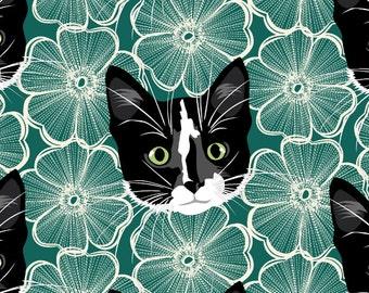 Custom Pet Portrait: Teal Poppy Gift Wrap & Card