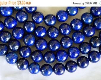 20% SALE 8mm, Lapis Lazuli Beads, Blue Gemstone Beads, Lapis, 12 Beads, Blue Stone Beads, Round Stone Beads, Dark Blue