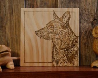 Custom Pet Portrait: Woodburned Wall Décor