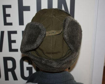 Wool Ear Flap Hat // Size Small Winter Hat // Ushanka Military Hat from Czech