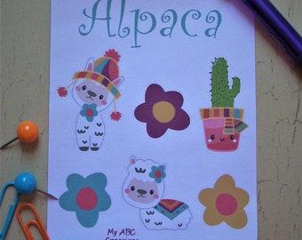 Alpaca Llama Planner Stickers Erin Condren Life Planner Cute Planners Happy Planner Sticker Sheet Character Sticker Sheet