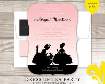 DRESS UP TEA Party . birthday invitation