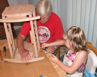 Grandkits Heritage Series Oak Doll Cradle (with Free Shipping)