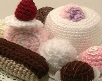Sale - Amigurumi Crochet Sweets Pattern Set Digital Download