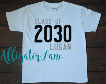 Class of 20XX shirts - customize for your child's graduation year. graduation shirts, kindergarten school tradition, future, school shirts