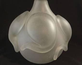 Vintage Extreme Modern Unique Design Frosted Glass Vase