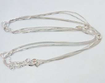 18 inches Sterling silver  box necklace chain, finished chain. box chain