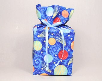 Universe/Cosmos/Galaxies/Solar System/Planets and Stars Tissue Box Cover