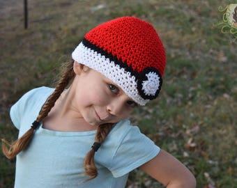 Pokemon Hand Crochet Beanie Hat Choose From Three Hats ready to Ship