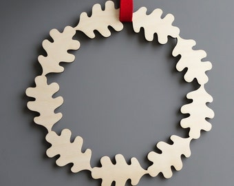 Christmas wreath, Wooden Christmas wreath, wooden wreath, Christmas decoration, Christmas ornament