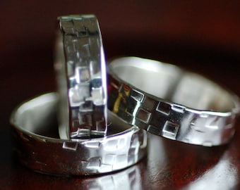Textured Sterling Silver Ring - Sized to Order