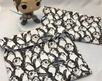 Star Wars Porgs Reusable Sandwich Bag, Reusable Snack Bag