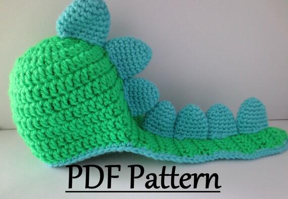 CROCHET PATTERN Dinosaur Hat Crochet Dino Hat Pattern