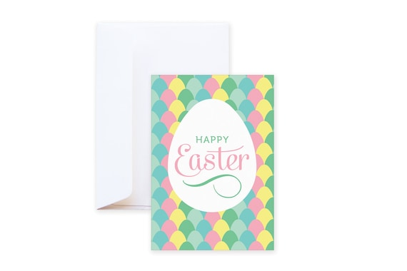 Easter Egg Wishing Card // Modern funny post card // including envelope // single card // greeting card