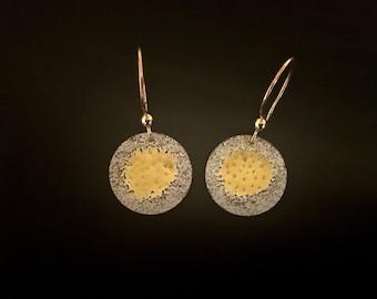 EnamelArt Fine Silver & Gold-Fill Earrings