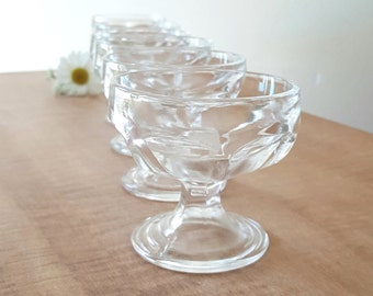 Ice Cream Cups Clear Glass Small Ice Cream Cups Set of 6 by Anchor Hocking