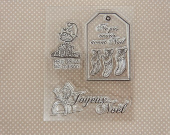Clear stamp: Merry Christmas