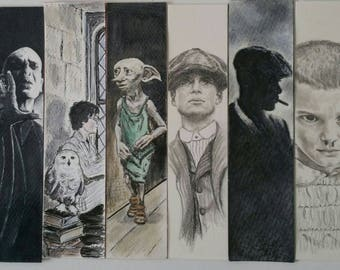 Bookmarks Harry Potter, Hermione, Dobby, Luna, Voldemort..., holidays' memories , landscapes... Personalized and originals