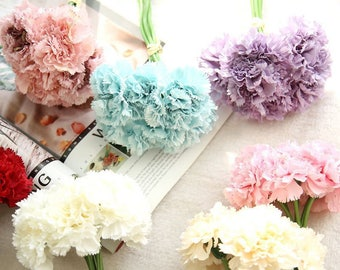 Artificial carnations bouquet wedding decorations bride holding flower mother's Day gift table decoration flowers