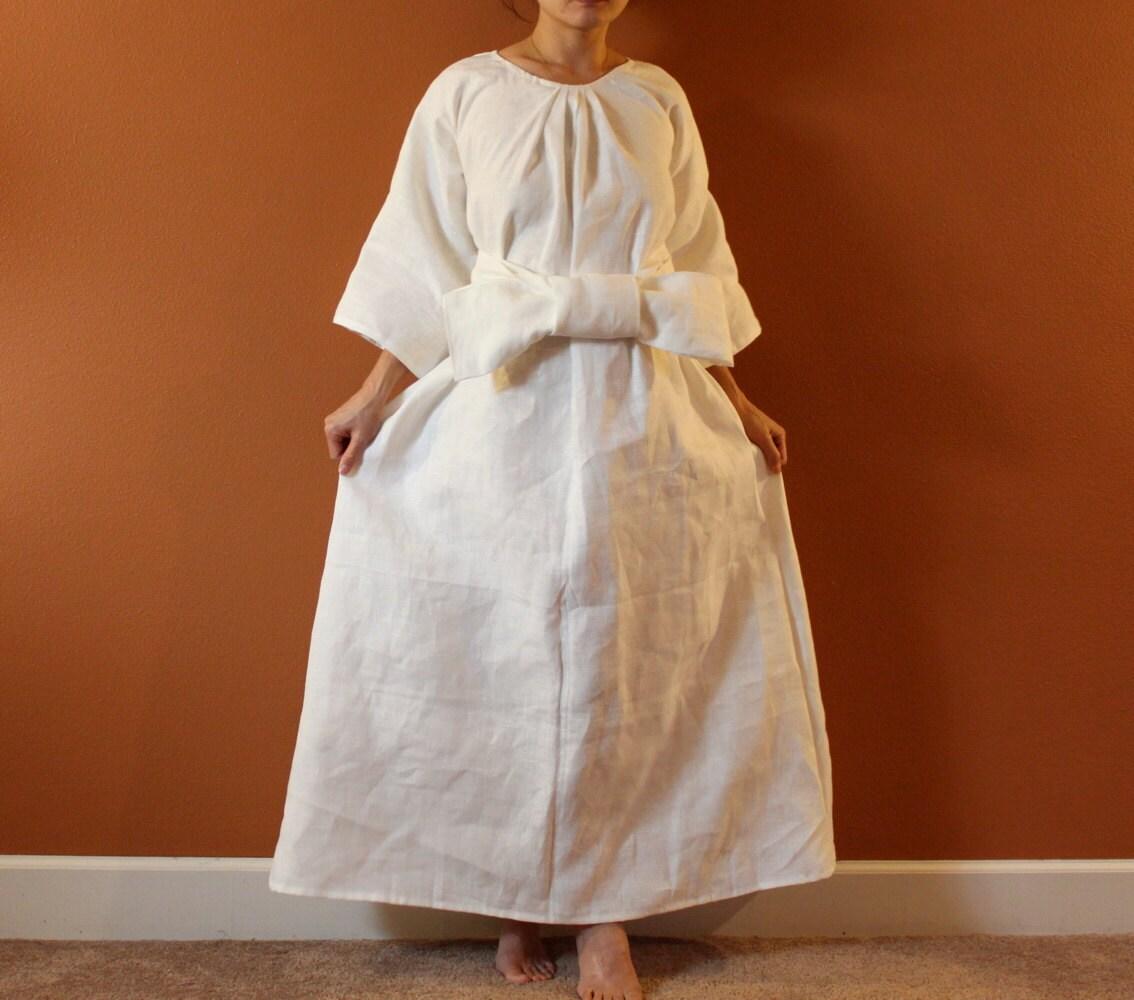Alternative eco wedding dress made to measure listing / linen ...