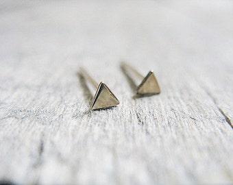 Triangle Stud Earrings in 14k Gold Fill