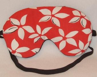 Handmade Large Flowers Red Sleep Eye Mask Blindfold Hen Stag Blackout Migraine