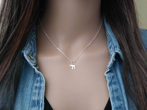 Chai Life Symbol Necklace Sterling Silver Chai Life Symbol