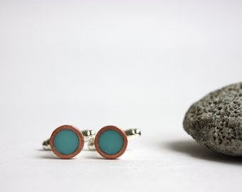 15// Resin and copper cufflinks