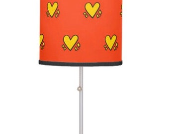Hearts Lamp (Red)