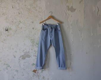 Vintage Levis 501 Jeans - Levi's Jeans 501 - 29 x 28 Button Fly - High Waist Jeans - Light Fade Jeans