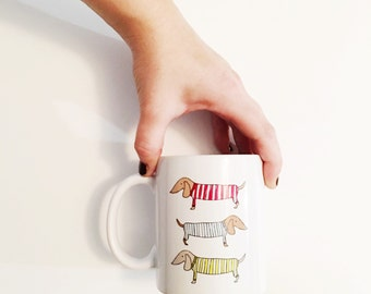 Dachshund Doxie Weiner Dog Lover Ceramic Coffee Mug Drink Cup Sweaters Dog Clothes Travel Mug