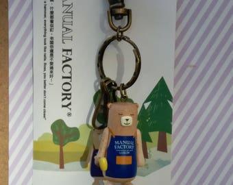 Diary Traveler's Notebook Manual Factory Bear Key Chain