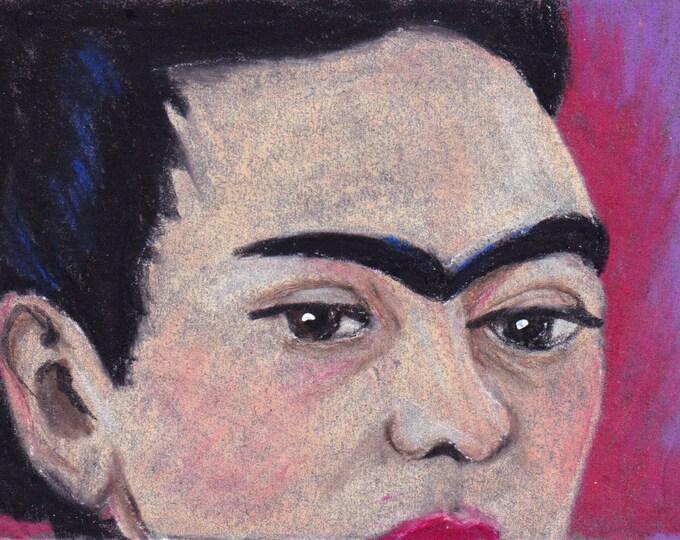 Portrait of Frida blank greeting card