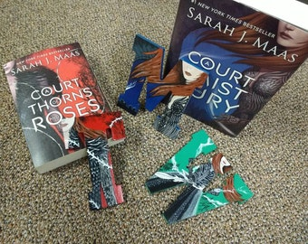 Acotar, acomaf, acowar and/or acofas mini handpainted bookish letter