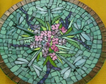Mosaic Dragonfly Platter