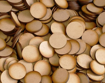 Unfinished wooden circles / disc for essential oil diffusers or crafting jewelry making in the size of your choice