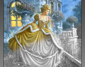 CINDERELLA 24 Grayscale Coloring Book Images for Instant Download