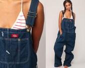 Dickies Overalls XL Denim Bib Overalls Baggy Dungarees Long Jean Pants Grunge Pants Suspender Hipster Carpenter Men Extra Large xl