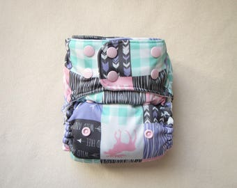 Cloth Diapers, Pocket diapers, Girl Cloth diapers, Patchwork, Modern, Cloth nappies, Cloth diaper covers, Cloth diaper pattern, woodland