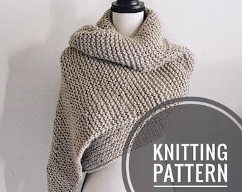 KNITTING PATTERN / Knit blanket scarf pattern / scarf pattern / knit extra long scarf pattern