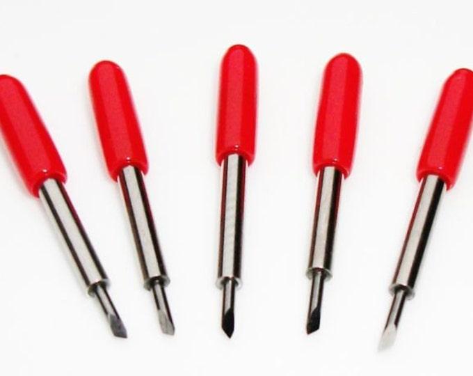 NEW GERMAN STEEL / Cricut & Roland Blades - Set of 5 Blades 45-degree